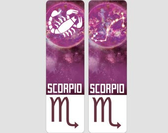 Scorpio Zodiac Sign Indestructible waterproof bookmark