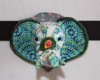 Magnet Eléphant en papier mâché