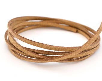 golden brown suede 3mm flat cord 50cm