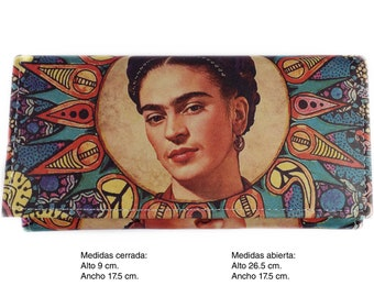 Frida Leather Clutch Wallet Circle
