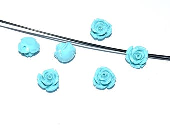 Natural Pearl wire - cinnabar (12mm) - Turquoise, pink patent