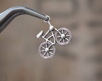 Cute little BICYCLE Charms Pendants - 20x19 mm set of 4