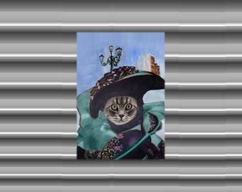 soft cat Fridge Magnet: my beautiful Venetian