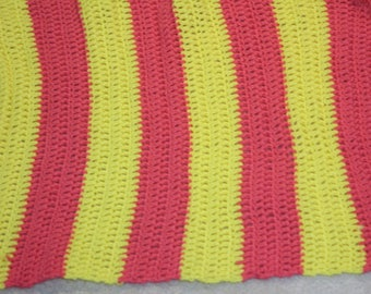 Pink And Yellow Double Baby Blanket