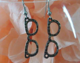 "Earrings ""Glasses"" costume jewelery"