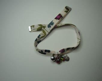Liberty bracelet, cream, purple, green