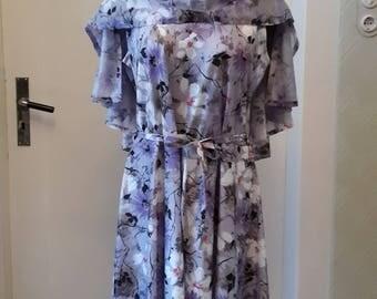 70s original dress with shoulder cape