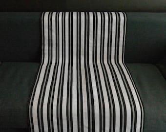 Okene Cloth black and White Stripped