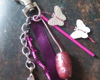 Keyring / bag purple