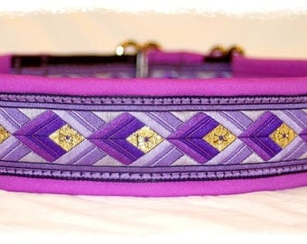 Dog Collar +Special price+ Jacquard Ribbon *Violet*Design for Pet accessories fashion
