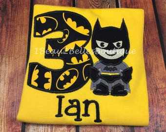 Batman Inspired Birthday Shirt