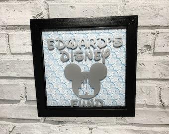 Disney Fund Money Box Frame | Disney Fund Money Box | Pocket Money Box | Holiday Fund Money Box