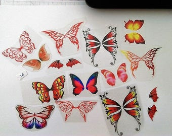 Set of 15 wings Mix NON cutting Lot No. 16