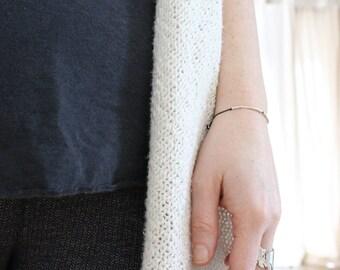 BEST BITCH |... . ... | |... .. | .|.| .... Morse Code Bracelet - Secret Message in Sterling Silver - Galentine Bracelet For your Best Bitch