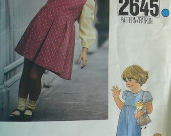 Girls Jumper, Jumpsuit, Blouse Pattern - Vintage Vogue 2645 - Size 6
