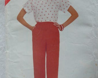 Women's or Misses' Top, Pants Pattern, Vintage See & Sew 5008, Size 14-18