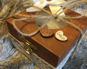 Handcrafted Wedding Ring Box