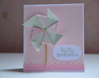 Hip Hip Hooray birth, birthday, congratulations, any occasion card
