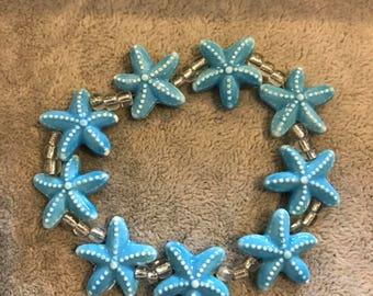 Blue Starfish Bracelet