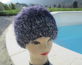 mother of the big day, purple and silver acrylic wool Cap