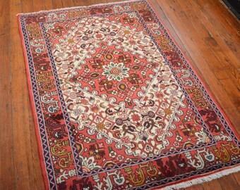 Vintage Persian Hamadan Rug, 3u00275u0027u0027x5u0027, Ivory/Red