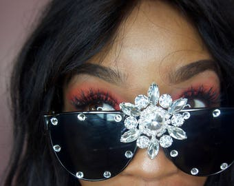 Embellished Sunglasses, Fashion Forward Sunnies (Fame)