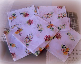 set of 6 TABLE NAPKINS, after the winter, summer will be here...