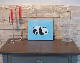 Panda on picture frame