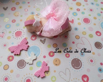baby girl-themed fabric Butterfly fimo.