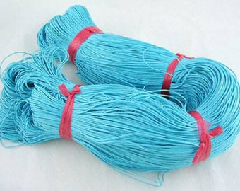 Thread - waxed cotton - 1 mm - turquoise - x10M