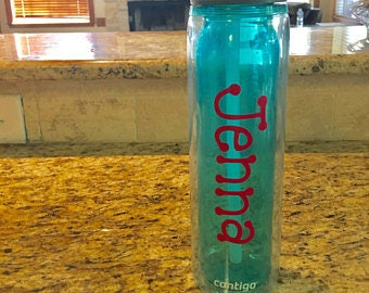 Water bottle Name or Monogram Decals