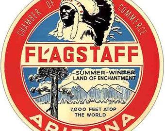 Vintage Style Flagstaff Arizona Travel Decal sticker