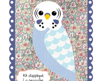 Fabric applique Kit: parakeet