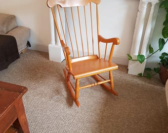 Lovely classic wooden rocking chair