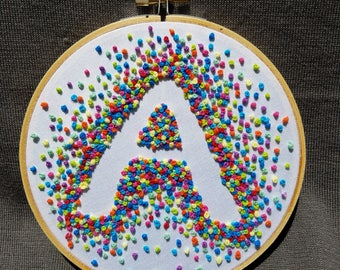 A-Hand Embroidered Hoop Art