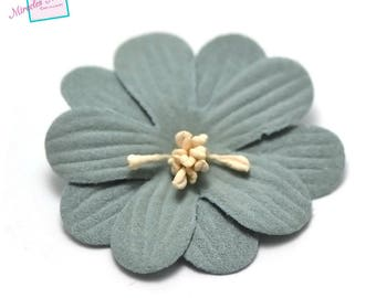 4 flowers imitation leather (suede) 45 X 10 mm Mint Green