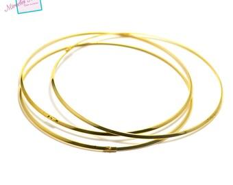 1 neck rigid 3.5 mm gold torque necklace