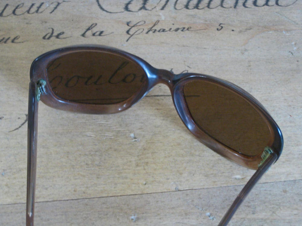 60s sunglasses - oversize retro French sunglasses with brown lenses ...