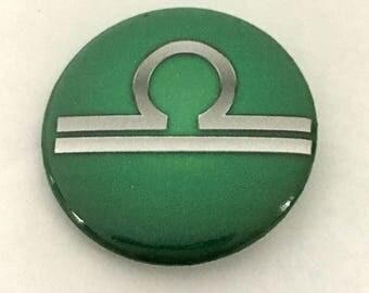 Zodiac symbol Libra Astrology sign button pin pinback
