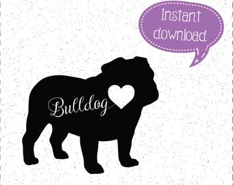 Bulldog SVG, Bulldog SVGs, Bulldogs SVG, Bulldogs SVGs, Dog SVGs, Dogs SVGs, SVGs, Cricut Cut File, Silhouette File