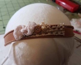 Rustic Newborn Handmade Headband photography