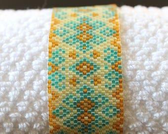 Fall time Delica beaded bracelet