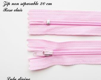 Simple not separable 20 cm zip 1: light pink