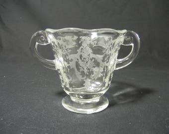 Navarre Etching # 327 Sugar Bowl # 2440 by Fostoria Glass