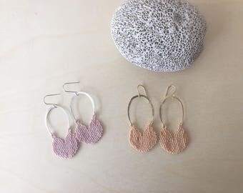 Niku 1 (pink)   Handmade beaded earrings