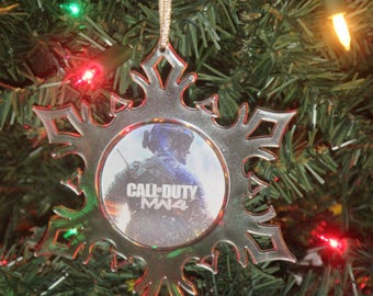 Modern Warfare 4 Personalized Acrylic SnowFlake Ornament *Free Personalization*