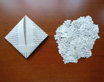 Book Page Butterfly Confetti