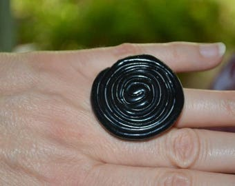 Ring fimo polymer clay licorice