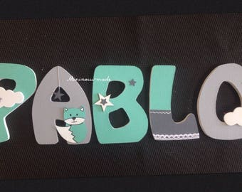 Name with Pablo custom wooden letters
