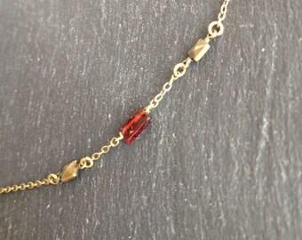 Red Garnet Choker necklace